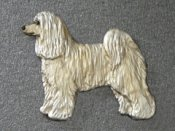 Chinese crested dog powder puff brosch