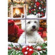 Waiting for Santa westie pussel 1000 bitar