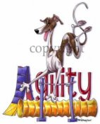 Greyhound agility 2 t-shirt McCartney