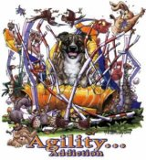 Staffordshire bullterrier agility 1 t-shirt McCartney