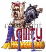 Yorkshireterrier agility 2 t-shirt McCartney