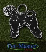 Irish softcoated wheaten terrier (helfigur) hängsmycke av sterling silver finskt