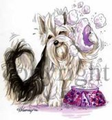 Chinese crested dog powder puff cartoon t-shirt 2 McCartney
