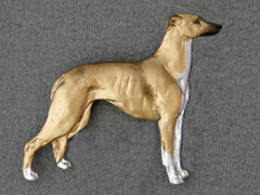 Greyhound brosch