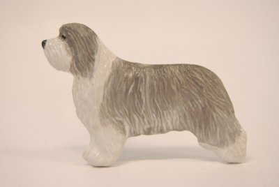 Bearded collie magnet brosch