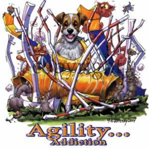 Jack russell terrier agility 3 t-shirt McCartney