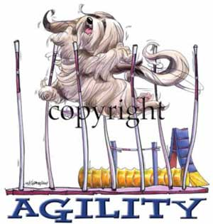 Lhasa apso agility 1 t-shirt McCartney