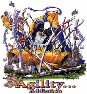 Papillon agility 3 t-shirt McCartney