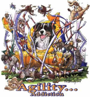 Australian shepherd agility 5 t-shirt McCartney