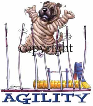 Shar pei agility 1 t-shirt McCartney