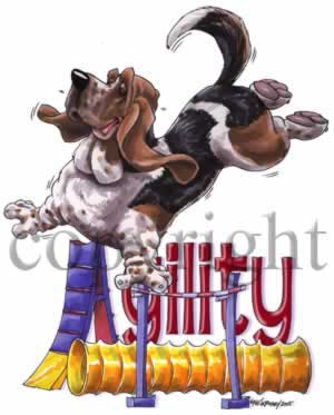 Basset hound agility 2 t-shirt McCartney