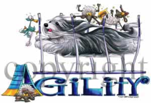 Bearded collie agility 3 t-shirt McCartney