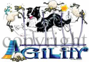 Border collie agility 4 t-shirt McCartney