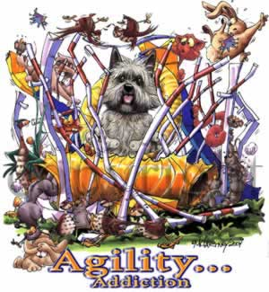 Cairnterrier agility 2 t-shirt McCartney