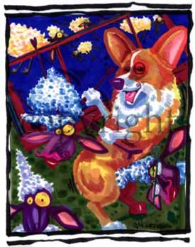 Welsh corgi pembroke deco dogs t-shirt McCartney