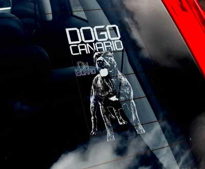 Dogo canario bildekal - on board
