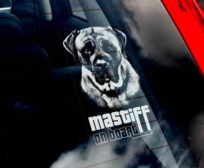 Mastiff bildekal - on board