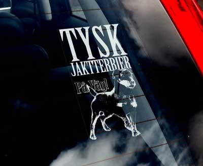 Tysk jaktterrier (svensk text) bildekal - On Board