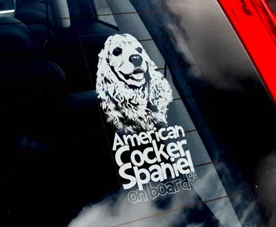 Amerikansk cocker spaniel bildekal 2 - On Board