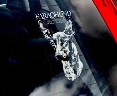 Faraohund bildekal - On Board