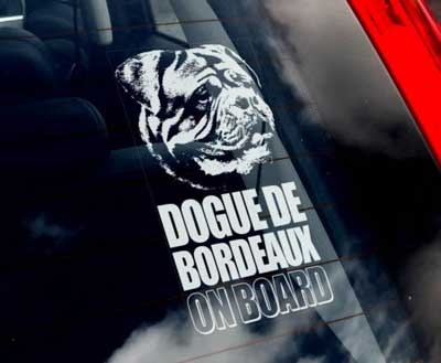 Dogue de bordeaux bildekal - on board
