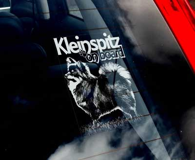 Kleinspitz bildekal - on board