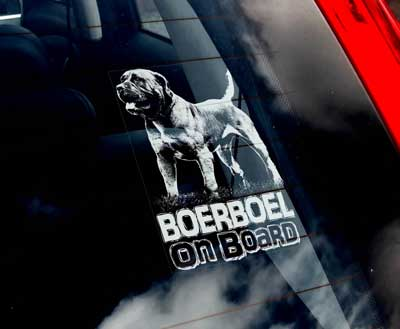 Boerboel bildekal - on board