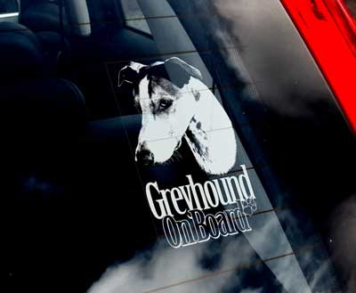 Greyhound bildekal 2 - on board
