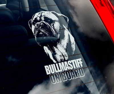 Bullmastiff bildekal - on board
