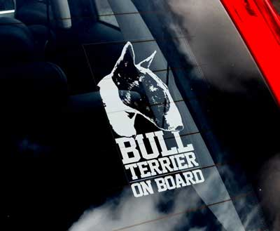 Bullterrier bildekal 2 - on board