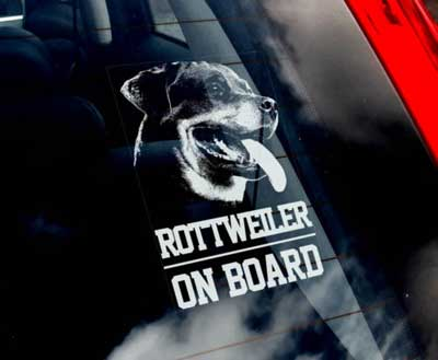 Rottweiler bildekal - on board