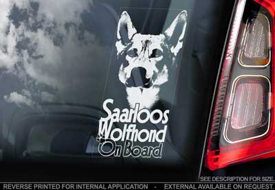 Saarlos wolfhond bildekal - on board