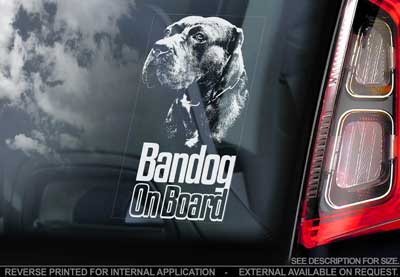 Bandog bildekal - on board