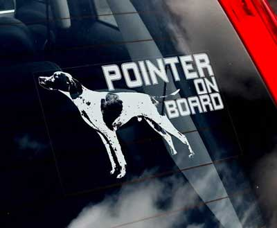 Pointer bildekal - on board