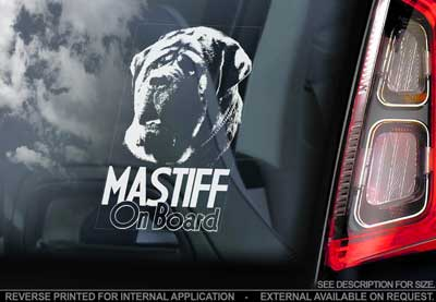 Mastiff bildekal V3 - on board