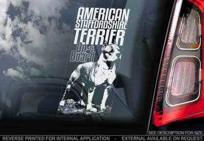 American staffordshire terrier bildekal V2 - on board