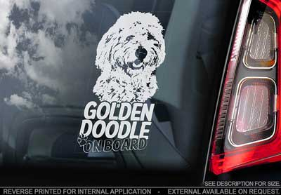 Goldendoodle bildekal V1 - on board