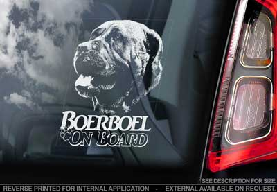 Boerboel bildekal V9 - on board