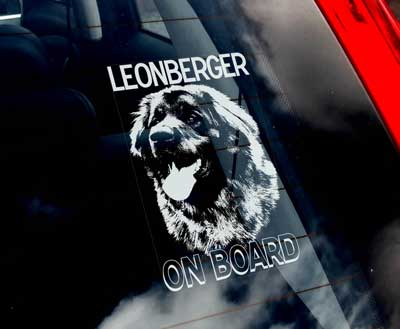 Leonberger bildekal - on board