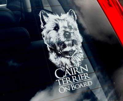 Cairnterrier bildekal - on board