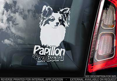 Papillon bildekal V2 - on board