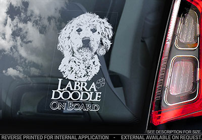 Labradoodle bildekal V1 - on board