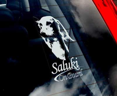 Saluki bildekal - on board