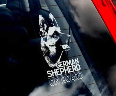 Kända Tysk schäferhund bildekal - on board - Bamsesbollar.se PV-43