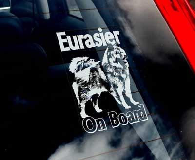 Eurasier bildekal - on board