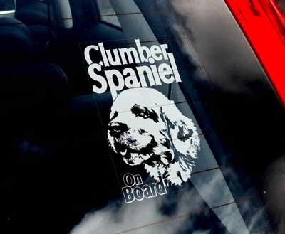 Clumber spaniel bildekal - on board