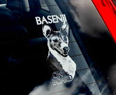 Basenji bildekal V1 - on board