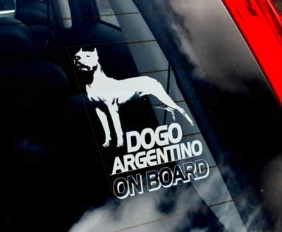 Dogo argentino bildekal - on board
