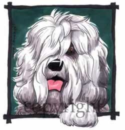 Old english sheepdog happy head t-shirt McCartney