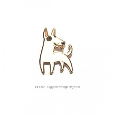 Bullterrier pin